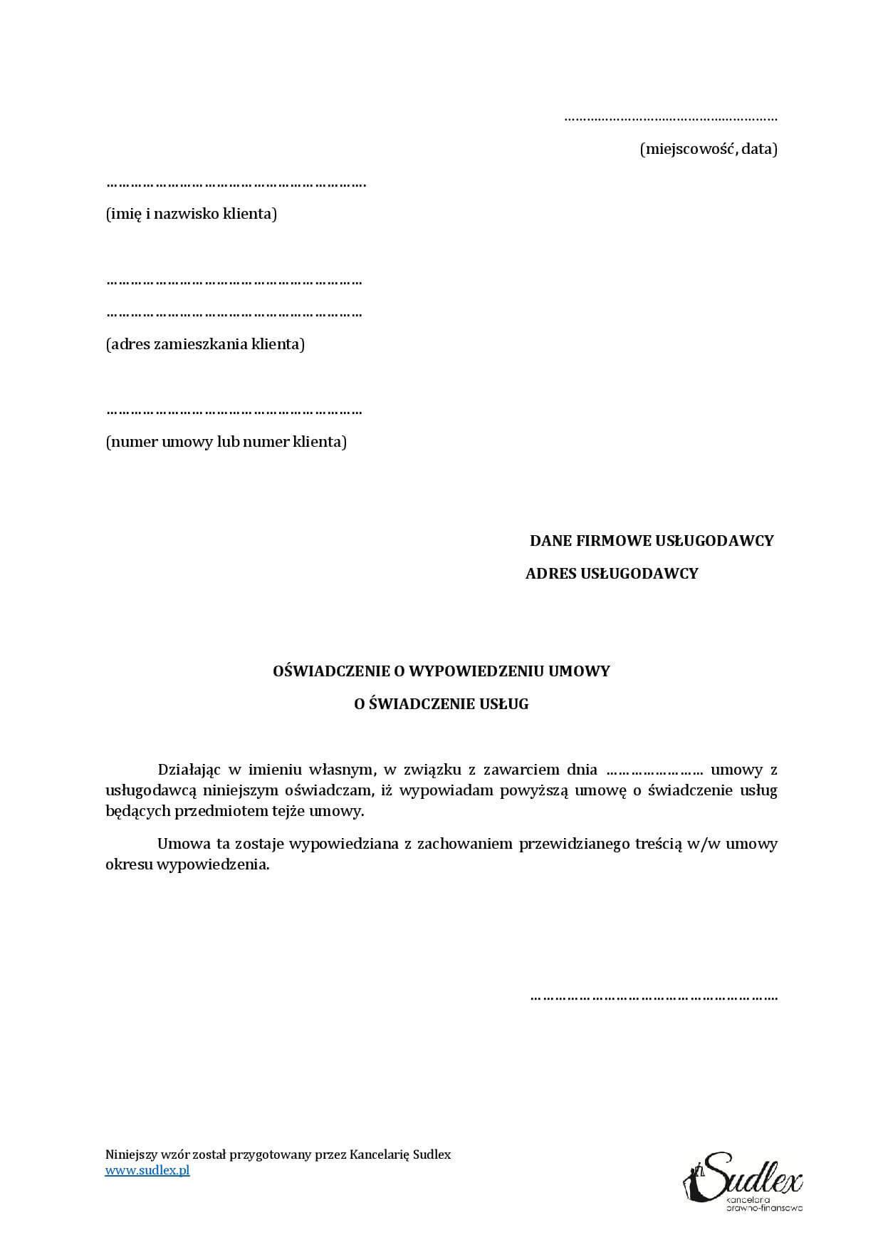 wypowiedzenie-umowy-o-świadczenie-usług